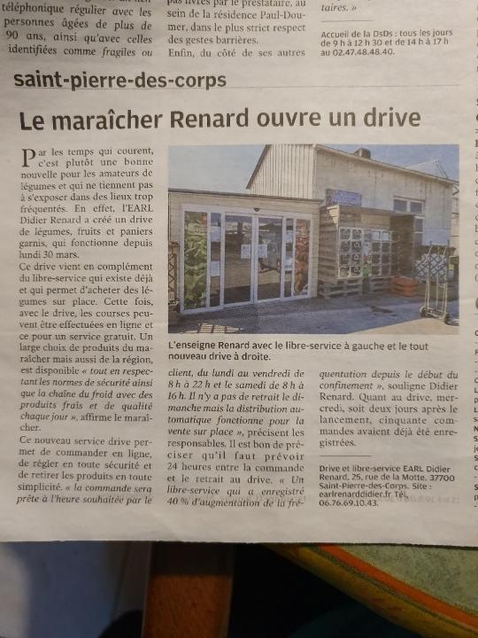 L'EARL Renard Didier dans la Nouvelle République